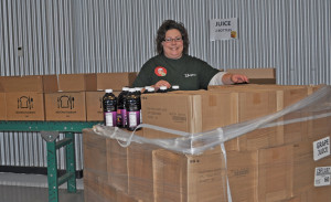 Lisa Fannin, Director packing Juices