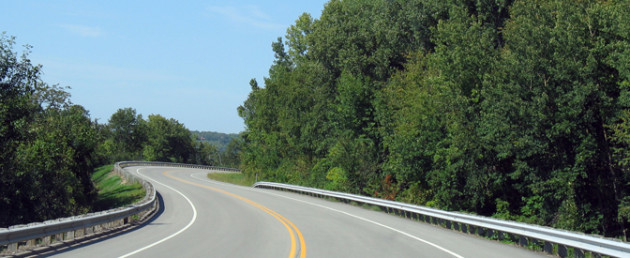 Image of a road - the road to healing trauma
