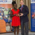 picture of Dave Toeniskoetter, Priscilla Spaeth, ANCOR DSP of the Year Award Recipient