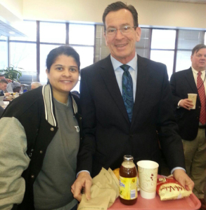 Miriam and Governor Malloy