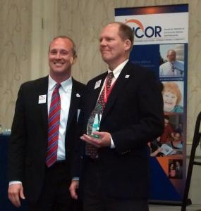 Dave Toeniskoetter Accepting ANCOR Award