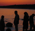 Photo: Stock Image Family Silhouette Sunset