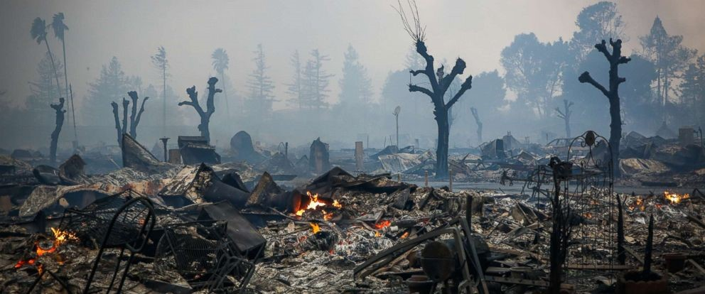 Image: California Fires Devastation